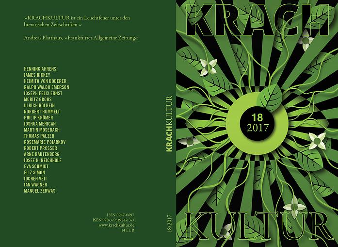 Krachkultur 18 Cover: Wie der frühe Emerson Natur denkt; Anruf Apollo; Joshua Mehigan Essay
