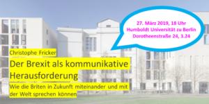Nächster Brexit-Vortrag: Berlin