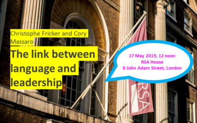 Language and Leadership: Lecture at the RSA