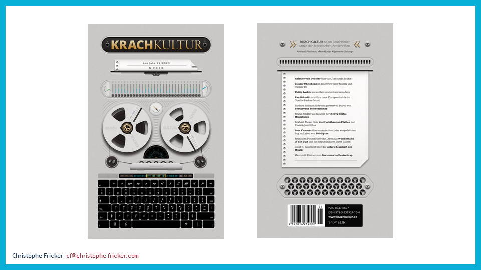Colson Whitehead in translation, Yanko Tsvetkov in translation -- the new Krachkultur is out!