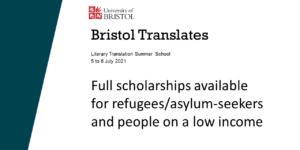 Translation scholarships available at Bristol Translates!