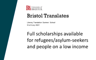 Translation scholarships available at Bristol Translates!